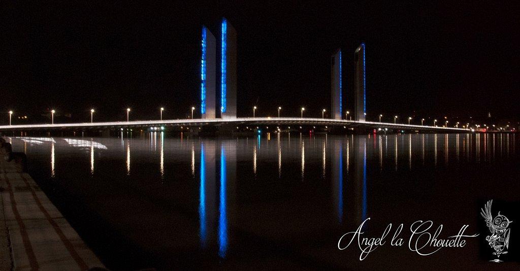Le pont Chaban-Delmas avec un très gros coeficient de marée : 118 !