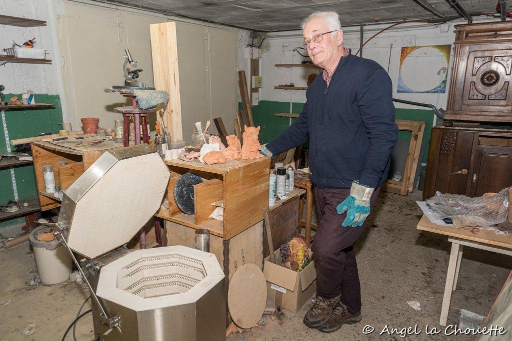 L'atelier de Kevin, sculpteur d'argile